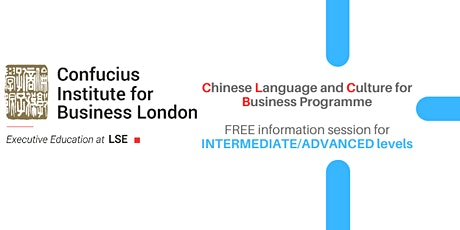 Chinese Language & Culture for Business: Info session INTERMEDIATE/ADVANCED tickets