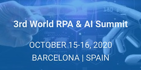 3rd World RPA & AI Summit tickets