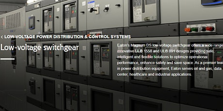 Eaton: Benefits of UL1558 LV metal-enclosed switchgear - safety&reliability tickets
