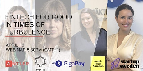 Fintech for good: In times of turbulence tickets