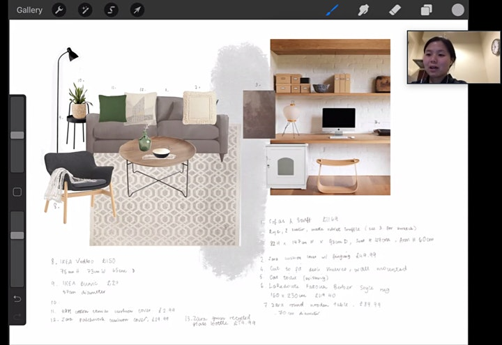 LIVE online interior design course (5 weeks from  24th August 2021) image