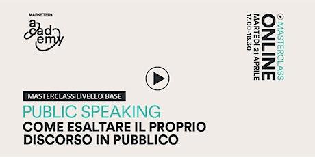 [Corso Online] Public Speaking - Masteclass livello base entradas