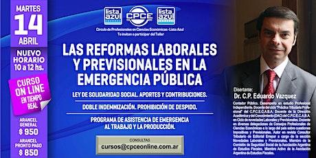 Curso online - Las reformas laborales y previsionales en la emergencia pública entradas