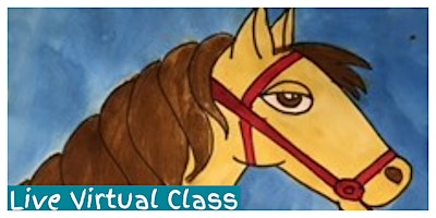 How to Draw a Horse Workshop (5-12 Years) - LIVE VIRTUAL CLASS!