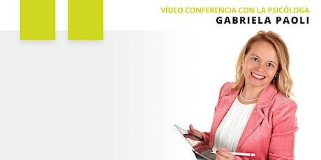 """Video Conferencia Gabriela Paoli: """"Cómo gestionar la cuarentena en familia"""" tickets"""