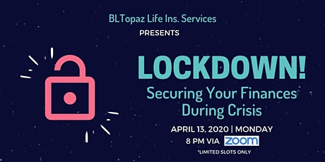 LOCKDOWN! Securing Your Finances During Crisis tickets
