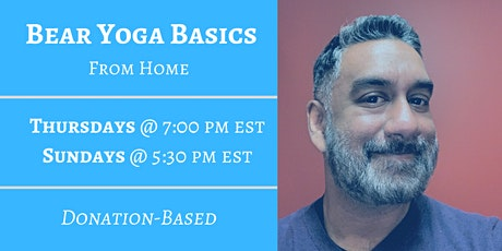 Bear Yoga Basics From Home - Sunday tickets