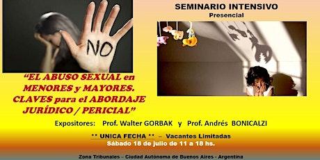 EL ABUSO SEXUAL (MENORES/MAYORES).CLAVES para el ABORDAJE JURÍDICO/PERICIAL entradas