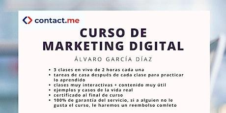 El curso de marketing digital  entradas