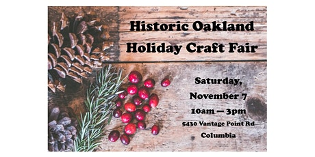2020 Holiday Craft Fair Vendor Registration tickets