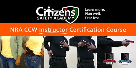 NRA CCW Instructor Certification Course tickets