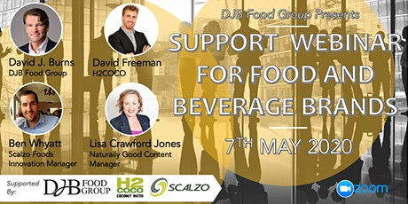 Support Webinar for Food and Beverage Brands tickets