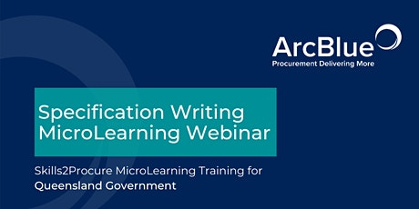 Specification Writing  Skills2Procure Training for QLD Government tickets