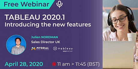 Free webinar : introducing Tableau 2020.1 with  our demo billets