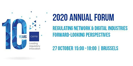 CERRE 2020 Annual Forum - Regulating network & digital industries: forward-looking perspectives tickets