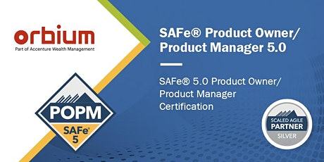 SAFe Product Owner / Product Manager 5.0 ONLINE Certification Training tickets