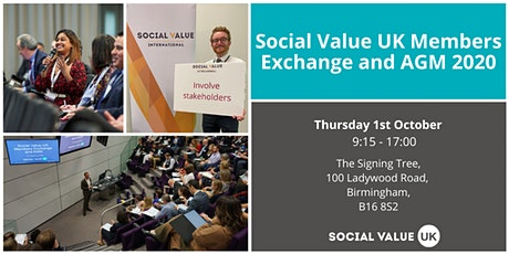 Social Value UK Members Exchange and AGM tickets