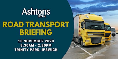 Ashtons Legal Road Transport Briefing tickets