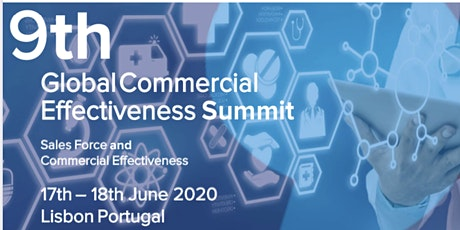 9th GCE Summit -  SFE & Commercial Effectiveness, Lisbon Portugal bilhetes