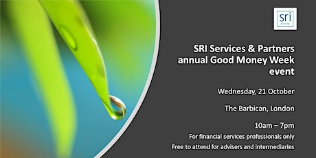 SRI Services & Partners 'Good Money Week' conference 2020  (Investment Intermediaries only) tickets