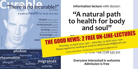 """There is no incurable!"" Lecture NOW MOVING ONLINE tickets"