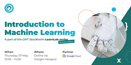 OHT Stockholm LearnLab: introduction to Machine Learning biljetter