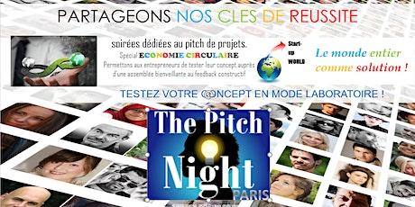"""Pitch Night Paris spécial """"Economie circulaire"""" billets"""