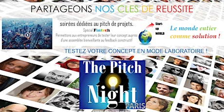 "Pitch Night Paris spécial ""Fintech"" tickets"