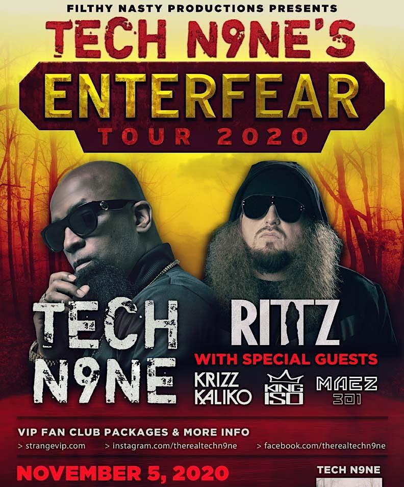 Minglewood Hall New Date Tech N9ne Enterfear Tour W Ritz Tickets Minglewood Hall Memphis Tn June 21st 2021
