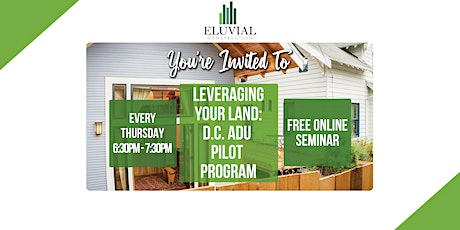Leveraging Your Land: DC ADU Virtual Seminar tickets