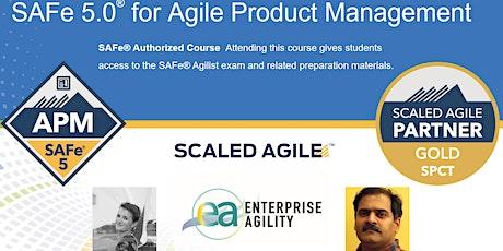 Virtual Interactive SAFe 5.0 Agile Product Management (APM) CST TZ tickets