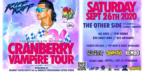 Cranberry Vampire Tour w/ RiFF RAFF +more @ The Other Side - Kearney, NE tickets