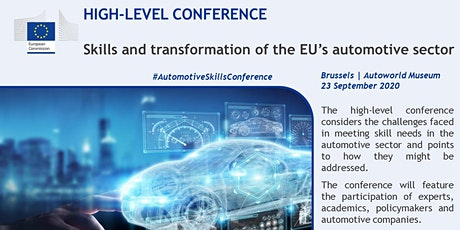 High-level event: skills and transformation of the EU's automotive sector bilhetes