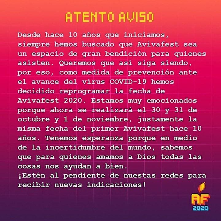 Imagen de AvivaFest 2020 - RESTART - Recuperando lo perdido