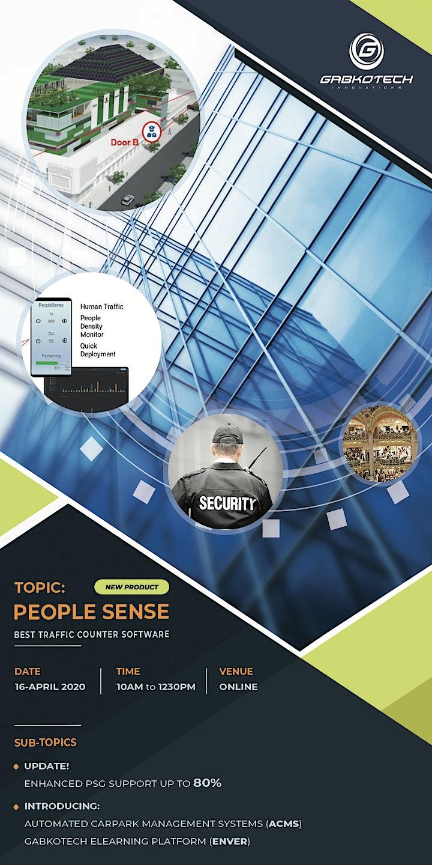 Gabkotech: PEOPLE SENSE SOLUTION (Traffic Counting Software) image