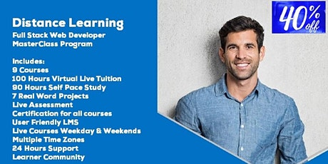 Live Instructor Led Distance Learning Full Stack Web Developer MEAN Stack Tickets
