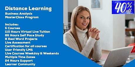 Instructor Led Distance Learning Business Analysis MasterClass Program tickets