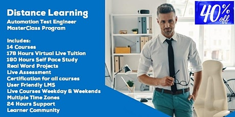 Distance Learning Automation Test Engineer MasterClass by Acumen Envision tickets