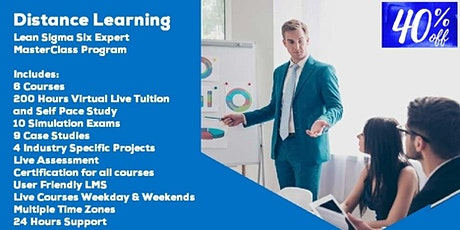 Distance Learning Lean Sigma Six Expert  MasterClass Program tickets