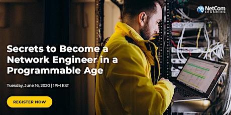 Webinar  -  Secrets to Become a Network Engineer tickets