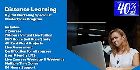Distance Learning Digital Marketing Specialist MasterClass Program biglietti