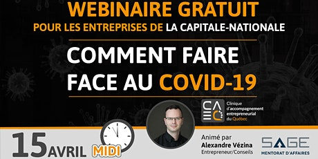 Entrepreneurs : Comment faire face au Covid-19 (SAGE Mentorat d'affaires) billets