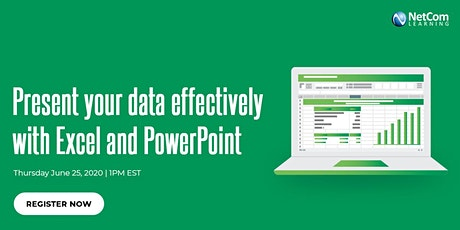 Webinar-  Present Your Data Effectively With Microsoft Excel and PowerPoint tickets