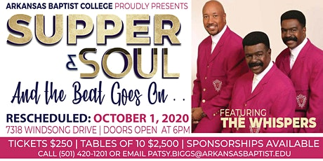 Arkansas Baptist College presents Supper & Soul featuring The Whispers tickets