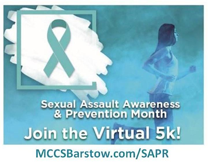 Sexual Assault Awareness Month SAPR Run/Walk Virtual 5K 2020 - MCLB Barstow image