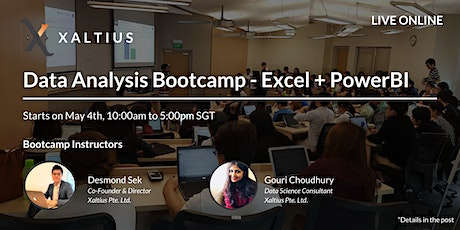 Data Analysis with Excel and PowerBI Bootcamp (3 days) (Live Online) tickets