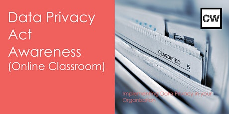 Data Privacy Act Awareness (Online Classroom) tickets