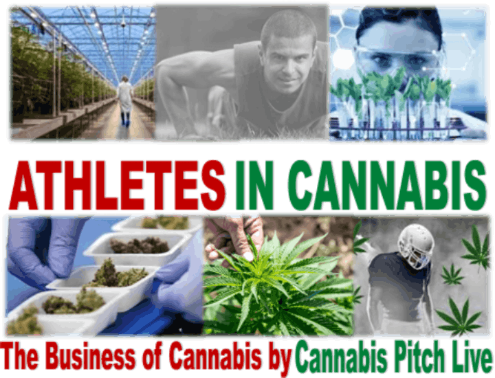 """Virtual """"Athletes in Cannabis""""  a Cannabis Pitch Live  Event image"""