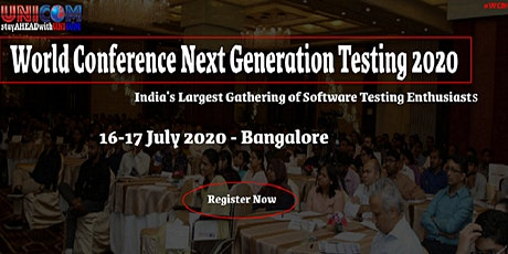 World Conference Next Generation Testing 2020 tickets