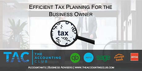 Efficient Tax planning strategies for the business owner tickets